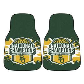 Baylor University Bears 2021 NCAA Basketball National Champions 2-pc Carpet Car Mat Set