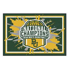 Baylor University Bears 2021 NCAA Basketball National Champions 3x5 Rug