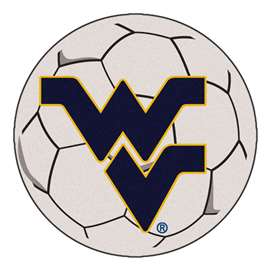 West Virginia University  Soccer Ball Mat, Rug , Carpet