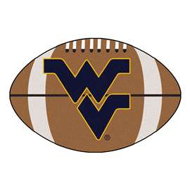West Virginia University Football Mat Ball Mats