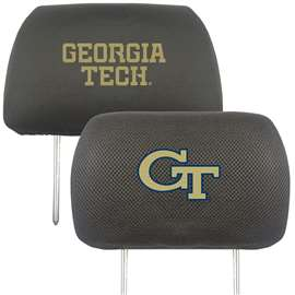 Georgia Tech Head Rest Cover Automotive Accessory