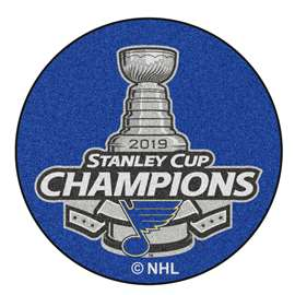 St. Louis Blues 2019 NHL Stanley Cup Champions Hockey Puck Mat