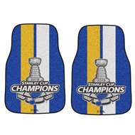 St. Louis Blues 2019 NHL Stanley Cup Champions 2-pc Carpet Car Mat Set