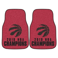 NBA - Toronto Raptors 2019 NBA Finals Champions 2-pc Carpet Car Mat Set