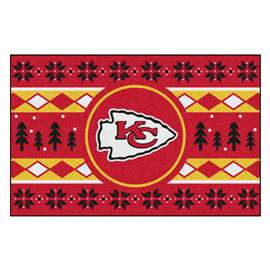 NFL - Kansas City Chiefs Holiday Sweater Starter Rectangular Mats