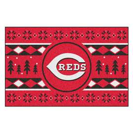 MLB - Cincinnati Reds Holiday Sweater Starter Rectangular Mats