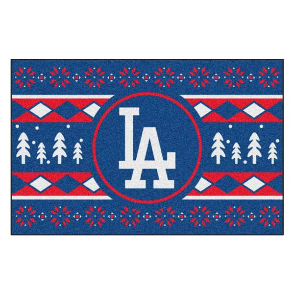MLB - Los Angeles Dodgers Holiday Sweater Starter Rectangular Mats