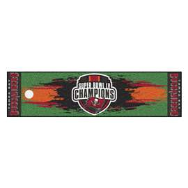 "Tampa Bay Buccaneers Super Bowl LV 55 Champions Putting Green Mat 18""x72"""