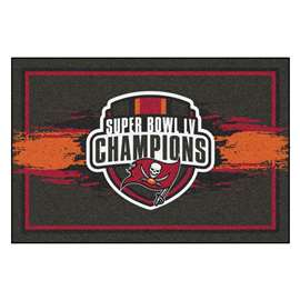 "Tampa Bay Buccaneers Super Bowl LV 55 Champions 5x8 Rug 59.5""x88"""