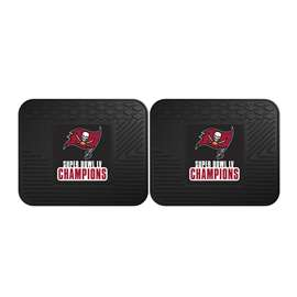 "Tampa Bay Buccaneers Super Bowl LV 55 Champions 2 Utility Mats 14""x17"""