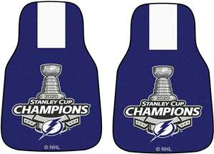 Tampa Bay Lightning 2020 Stanley Cup Champions 2-pc Carpet Car Mat Set