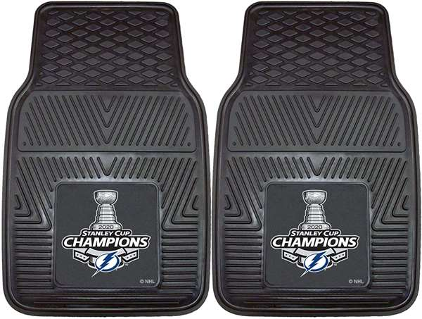 Tampa Bay Lightning 2020 Stanley Cup Champions 2-pc Vinyl Car Mat Set