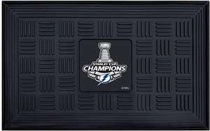 Tampa Bay Lightning 2020 Stanley Cup Champions Medallion Door Mat