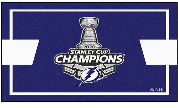 Tampa Bay Lightning 2020 Stanley Cup Champions 3x5 Rug