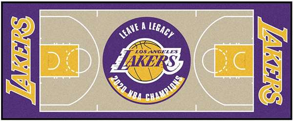Los Angeles Lakers 2020 NBA Finals Champions NBA Court Large Runner