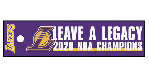Los Angeles Lakers 2020 NBA Finals Champions Putting Green Mat