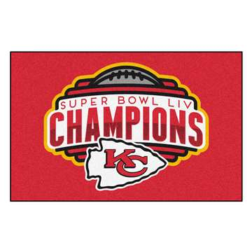"Kansas City Chiefs Super Bowl LIV 54 Champions Starter Mat 19""x30"""