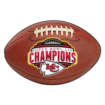 "Kansas City Chiefs Super Bowl LIV 54 Champions Football Mat 20.5""x32.5"""