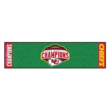"Kansas City Chiefs Super Bowl LIV 54 Champions Putting Green Mat 18""x72"""