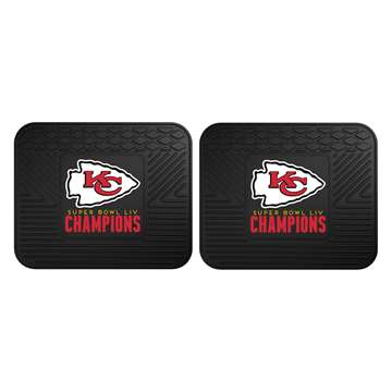 "Kansas City Chiefs Super Bowl LIV 54 Champions 2 Utility Mats 14""x17"""