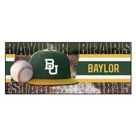 Baylor University Baseball Runner BU Logo