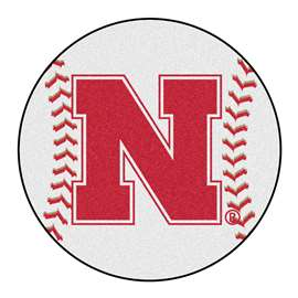University of Nebraska  Baseball Mat Rug Carpet Mats