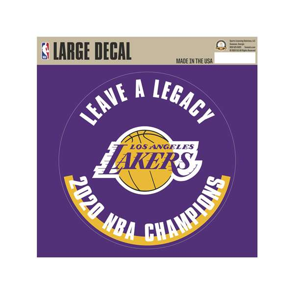 Los Angeles Lakers 2020 NBA Finals Champions Large Decal