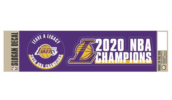 Los Angeles Lakers 2020 NBA Finals Champions Team Slogan Decal