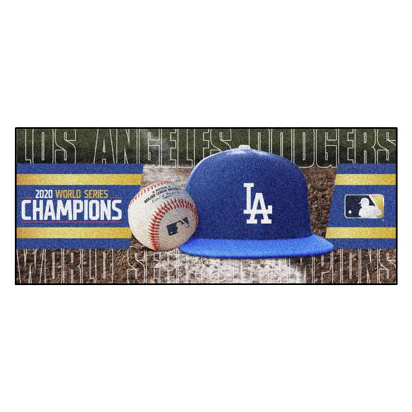 Los Angeles Dodgers 2020 World Series Champions Baseball Runner