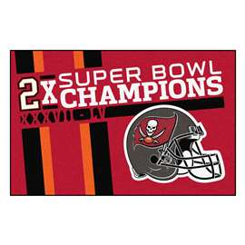 "Tampa Bay Buccaneers Super Bowl LV 55 Champions Dynasty Starter Mat 19""x30"""