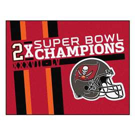 "Tampa Bay Buccaneers Super Bowl LV 55 Champions Dynasty All-Star Mat 33.75""x42.5"""