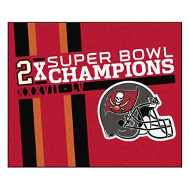 "Tampa Bay Buccaneers Super Bowl LV 55 Champions Dynasty Tailgater Mat 59.5""x71"""