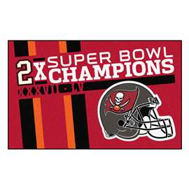 "Tampa Bay Buccaneers Super Bowl LV 55 Champions Dynasty Ulti-Mat 59.5""x94.5"""