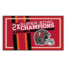 "Tampa Bay Buccaneers Super Bowl LV 55 Champions Dynasty 3x5 Rug 36""x 60"""