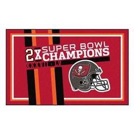 "Tampa Bay Buccaneers Super Bowl LV 55 Champions Dynasty 4x6 Rug 44""x71"""