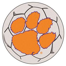 Clemson University Soccer Ball Ball Mats