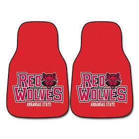 Arkansas State University 2-pc Carpet Car Mat Set Front Car Mats