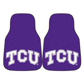 Texas Christian University  2-pc Carpet Car Mat Set