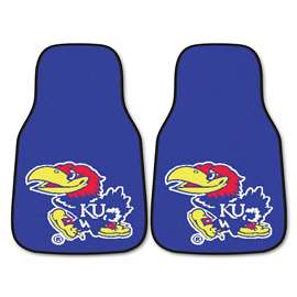 University of Kansas 2-pc Carpet Car Mat Set Front Car Mats