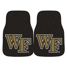 Wake Forest University 2-pc Carpet Car Mat Set Front Car Mats