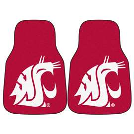 Washington State University  2-pc Carpet Car Mat Set