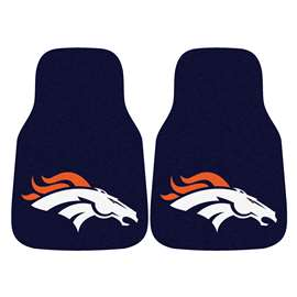 NFL - Denver Broncos 2-pc Carpet Car Mat Set Front Car Mats