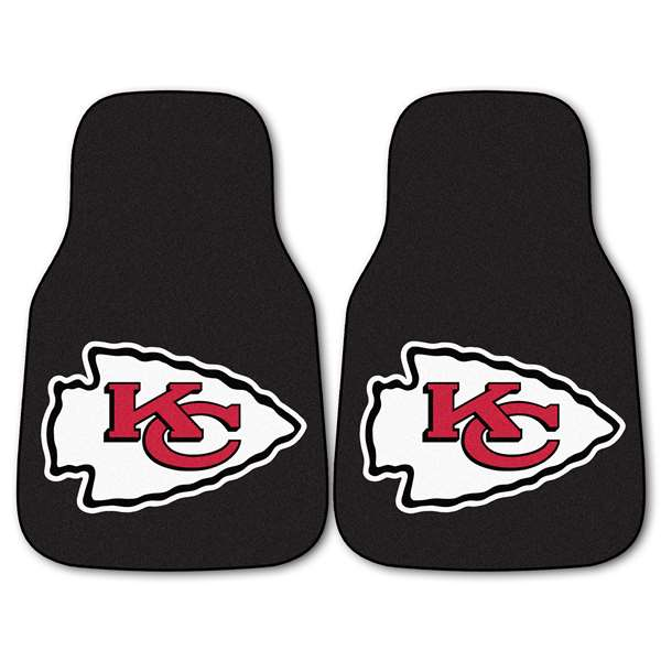 NFL - Kansas City Chiefs 2-pc Carpet Car Mat Set Front Car Mats