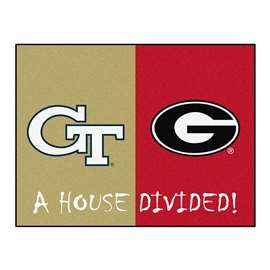 House Divided: Georgia Tech / Georgia  House Divided Mat Rug, Carpet, Mats