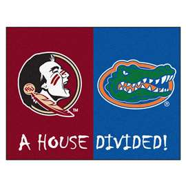 House Divided: Florida State / Florida  House Divided Mat Rug, Carpet, Mats