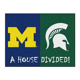 House Divided: Michigan / Michigan State  House Divided Mat Rug, Carpet, Mats