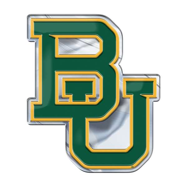 Baylor University Embossed Color Emblem BU Logo