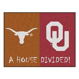 House Divided: Texas / Oklahoma  House Divided Mat Rug, Carpet, Mats