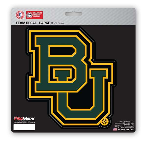 Baylor University Large Decal BU Logo