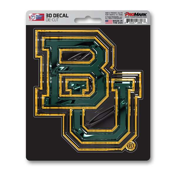 Baylor University 3D Decal BU Logo